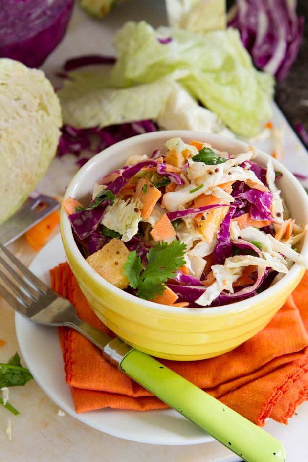 Pineapple Curry Coleslaw #paleo #glutenfree