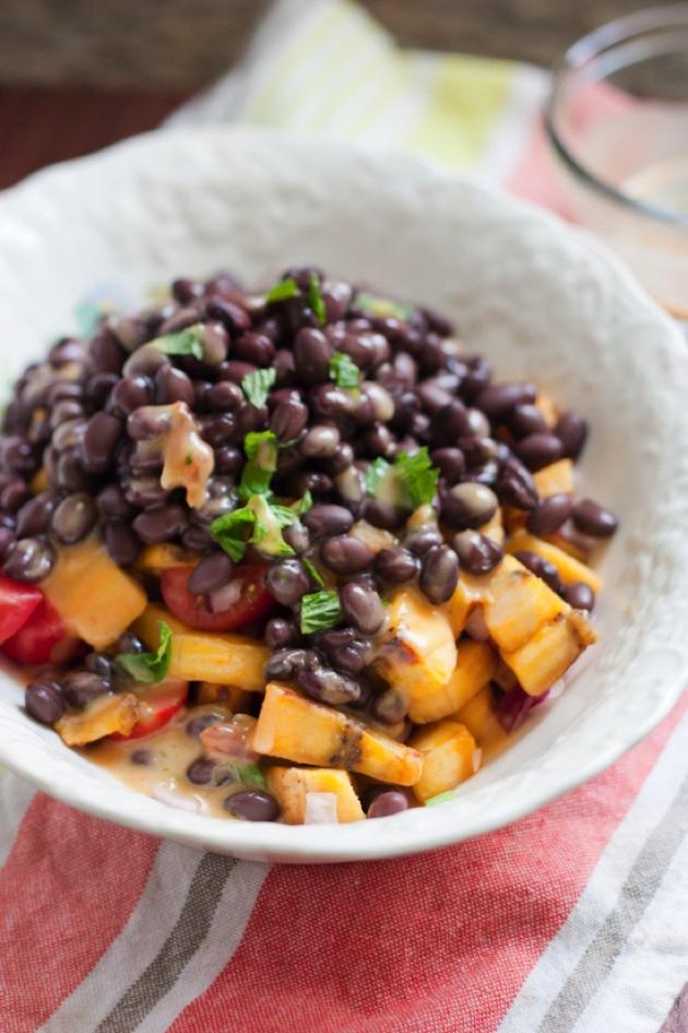Plantain Bean Salad #vibrantlifecleanse #vegan #grainfree