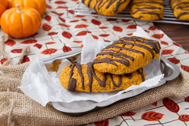 Oil-free Chocolate Pumpkin Protein Bars #oilfree #grainfree