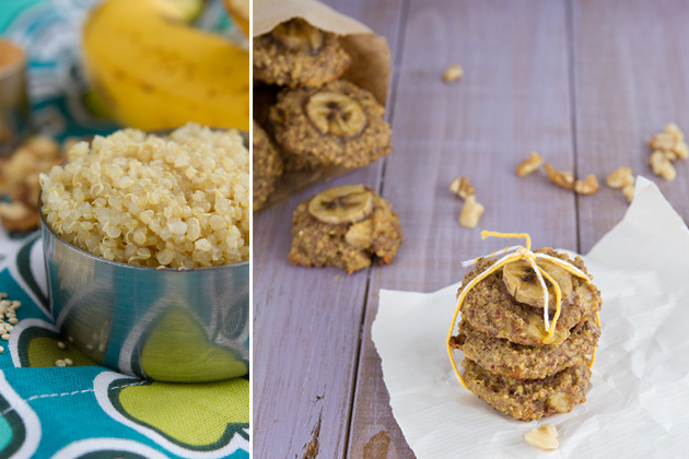 Banana Bread Breakfast Cookies - use quinoa instead of oats in cookies!