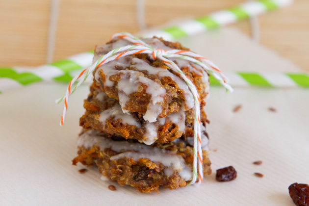 Quinoa Carrot Cake Breakfast Cookies