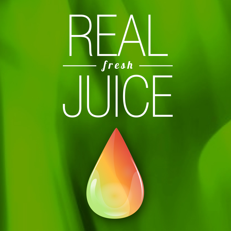 Real Juice - just logo with greeb Big