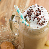 Vegan Fat-Burning Rocket Fuel Frappuccino #vegan #lowcarb #keto #paleo