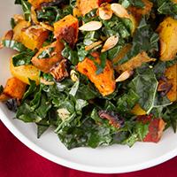 Rockin' Roots Warmed Kale Salad