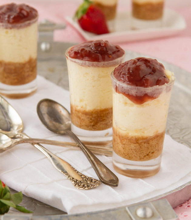 Strawberry Cheesecake Shooters