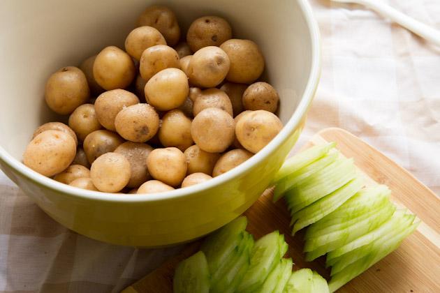 Summer Mayo-free Potato Salad