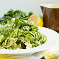 Dairy-free Caesar Salad Dressing with MCT Oil