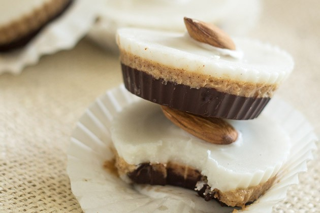 Triple Layer Coconut Almond Cups