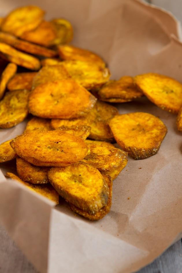 Turmeric Plantain Chips Healthful Pursuit