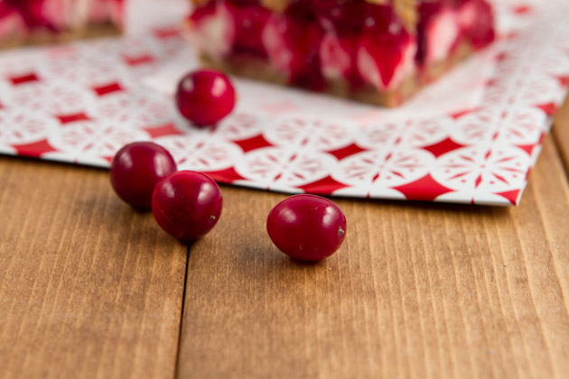 Vegan Cranberry Cheesecake Squares