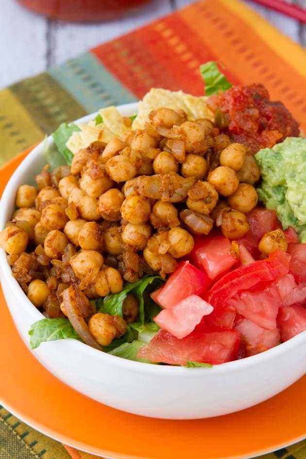 Ultra-Easy Vegan Taco Salad #vegan #glutenfree