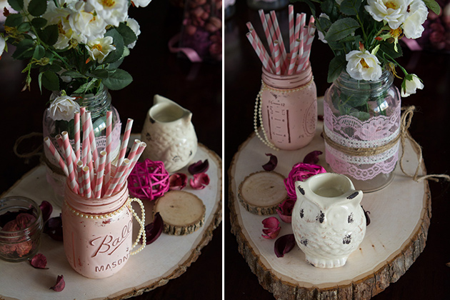 Antique-Vintage Wedding Craft Ideas -- centerpiece #wedding #antique #crafts