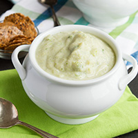 Vegan Cream of Broccoli Soup #Grain-free #Paleo
