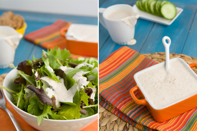 Creamy Bacon Salad Dressing (with goat cheese)