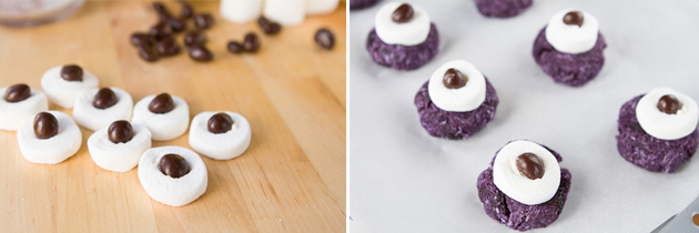 Vegan and Gluten-free Monster Eyeball Macaroons