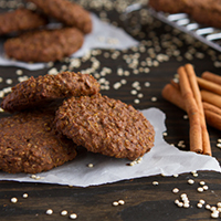 Gingerbread Quinoa Breakfast Cookies #glutenfree #dairyfree #vegan