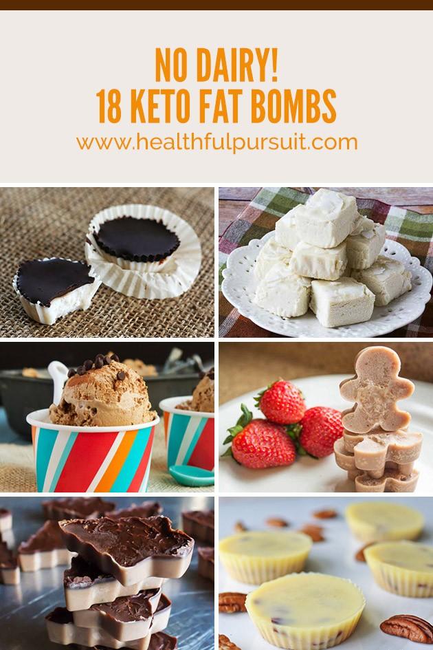 No Dairy! 18 Keto Fat Bombs #keto #lowcarb #highfat #fatbomb #dairyfree #ketolife #ketolifestyle #ketosnacks