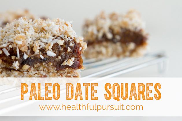 Paleo (and vegan) Date Squares