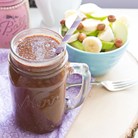 Chocolate Power Water #keto #vegan #dairyfree