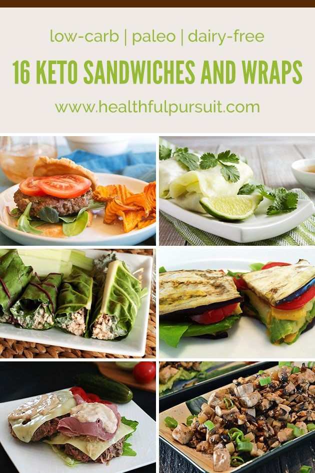 Keto Sandwiches and Wraps #keto #lchf #paleo #healthyeating