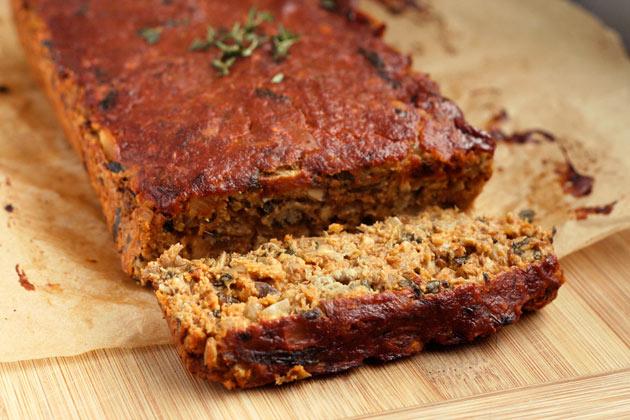 Gluten Free Vegan Lentil Meat Loaf