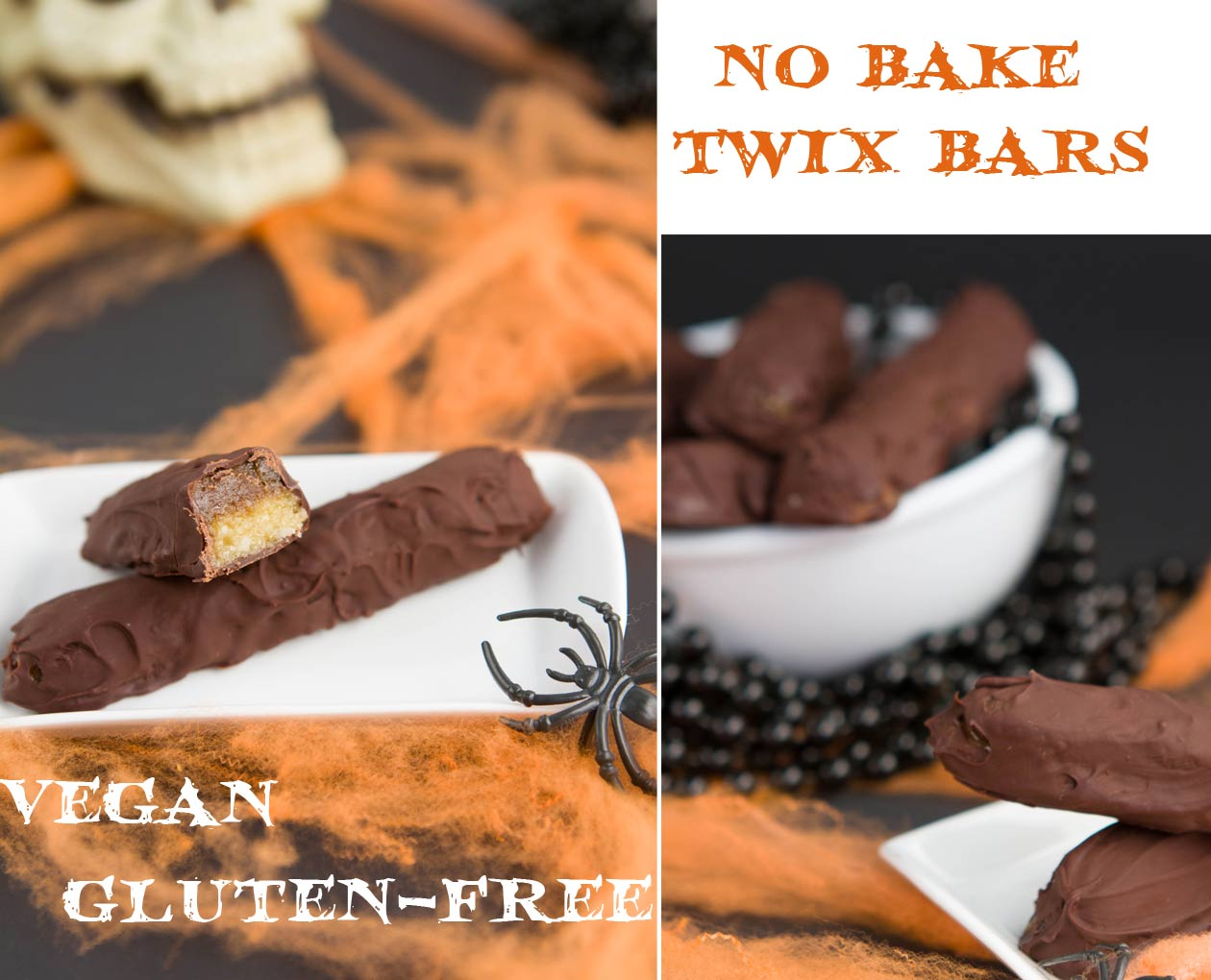 No Bake Vegan Twix Bars