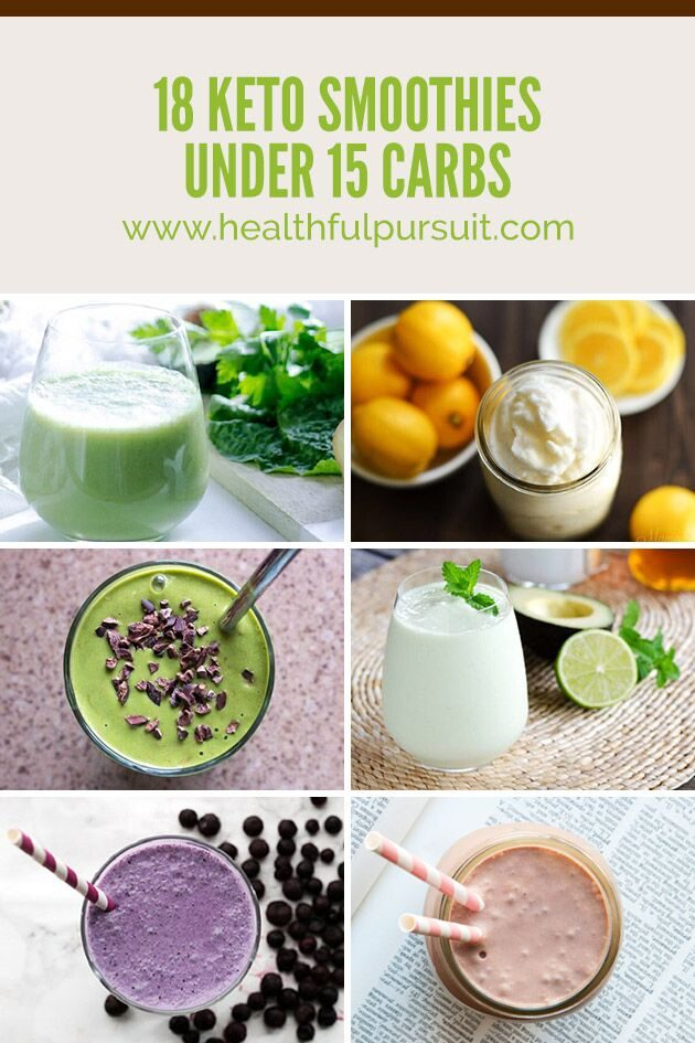 18 Dairy-Free Keto Smoothies under 15 Carbs #ketolife #healthfulpursuit #ketosmoothies #dairyfree